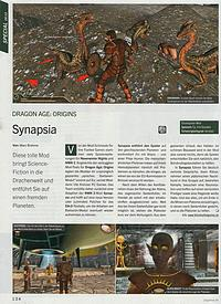 Synapsia für Dragon Age in der PC Games 08/2010